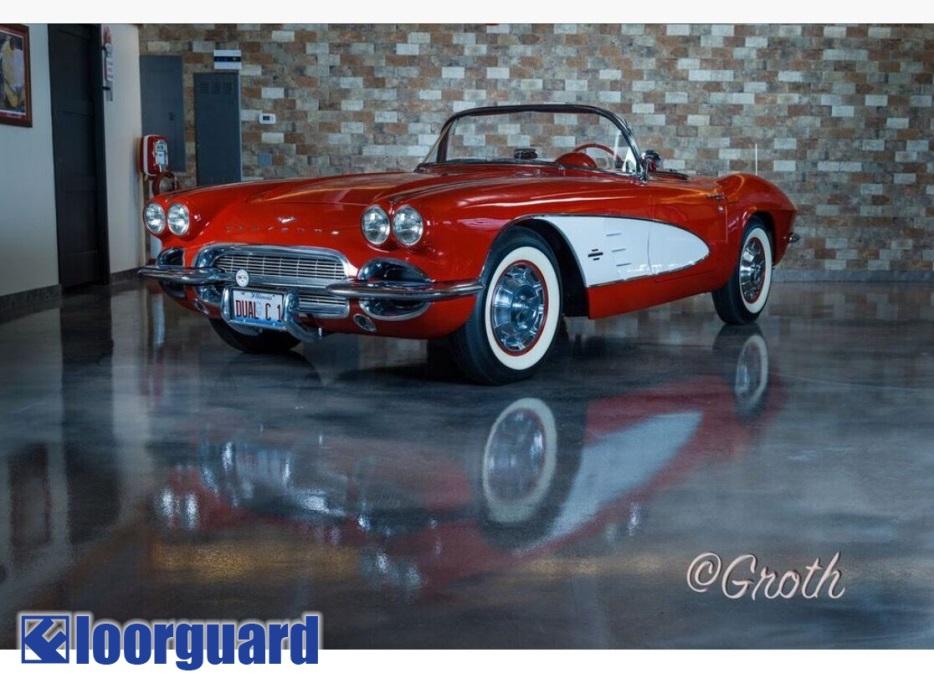 Classic Car Parked on Epoxy Floor | Floorguard.com