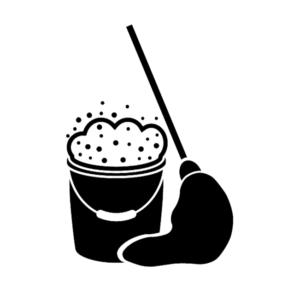 Vector Image of Mop Bucket and Mop | Floorguard.com